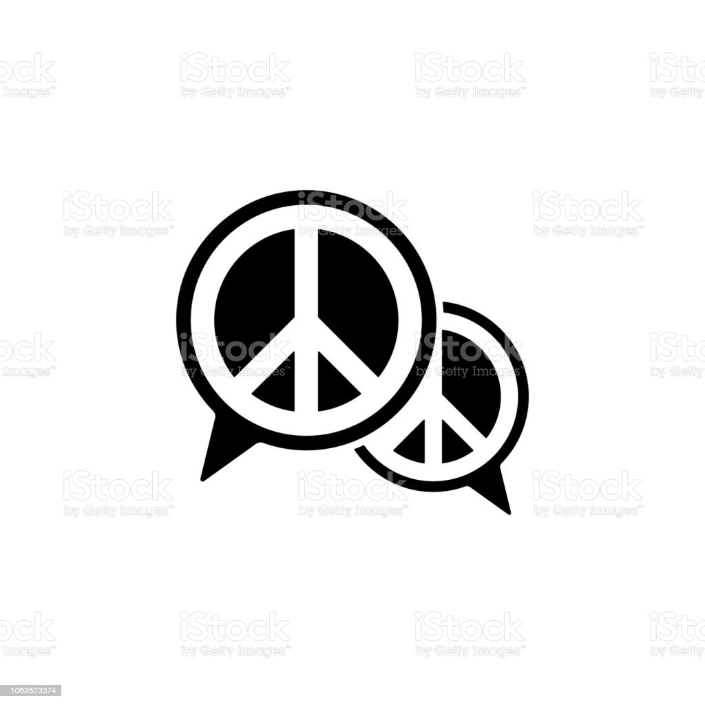 Communication Bubble Peace Icon Element Of Human Rights Icon