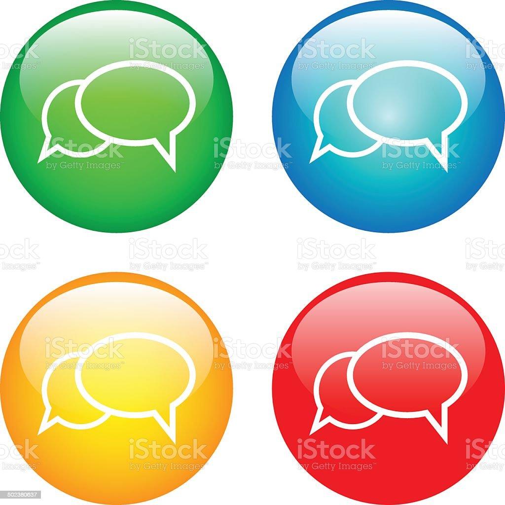 Communication bubbles vector art illustration
