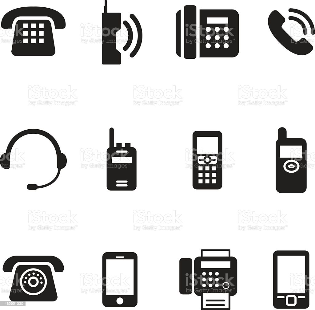 communication, call, phone vintage, retro telephone Vector Illus vector art illustration