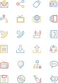 Communication Colored Line Icons 2