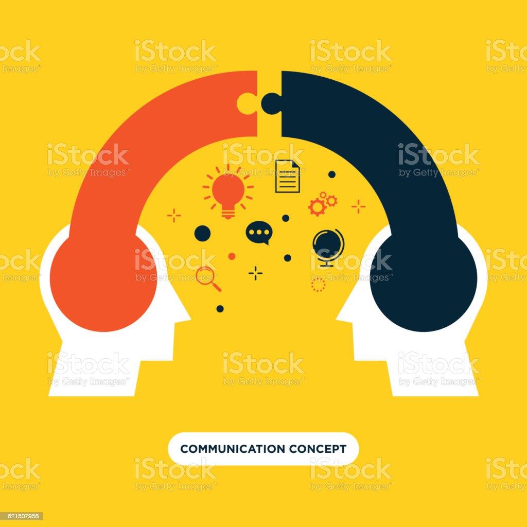 Communication concept, opinion exchange flat design Lizenzfreies communication concept opinion exchange flat design stock vektor art und mehr bilder von finanzwirtschaft und industrie