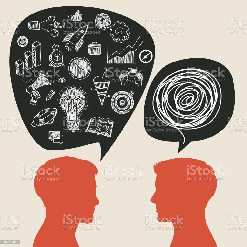 Communication concept vector art illustration