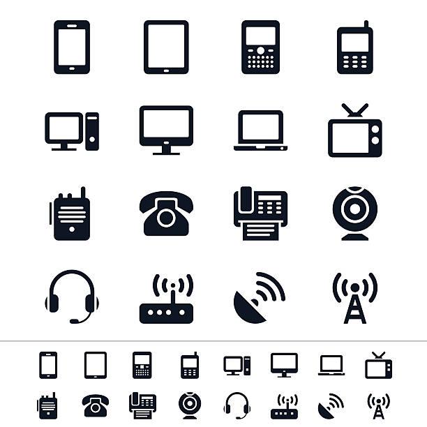 Kommunikation Gerät Symbole – Vektorgrafik