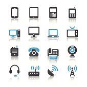 Communication device icons - reflection theme