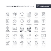 29 Communication Icons - Editable Stroke - Easy to edit and customize - You can easily customize the stroke with