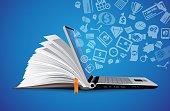 IT Communication - e-learning - internet network as knowledge base