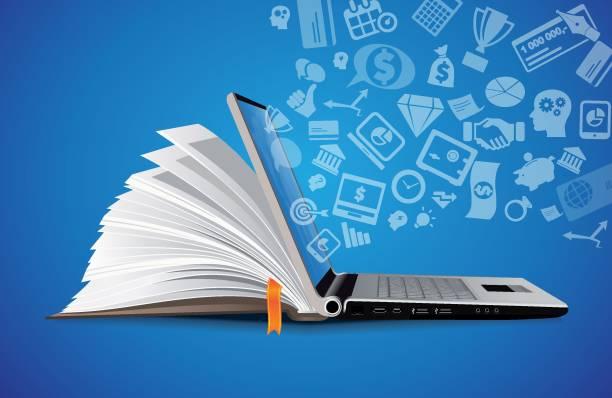 IT Communication - e-learning - internet network as knowledge base IT Communication - e-learning - internet network as knowledge base showing stock illustrations