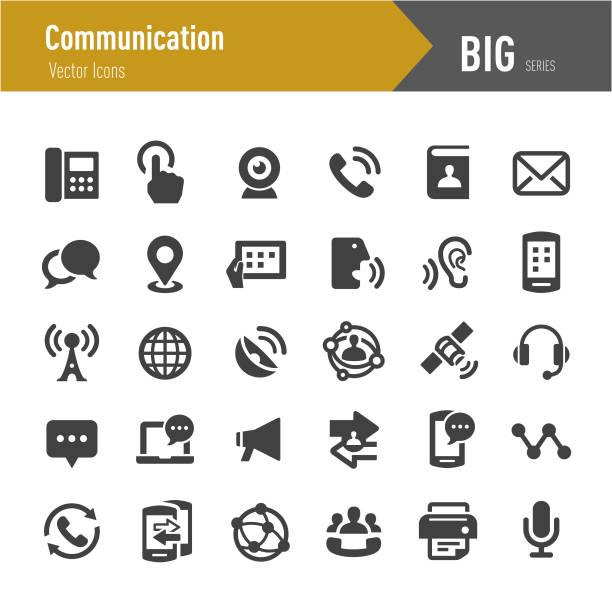 ilustraciones, imágenes clip art, dibujos animados e iconos de stock de icono de comunicación - serie grandes - física