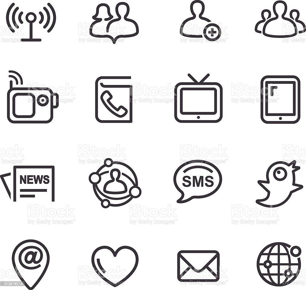Communication Icon - Line Series vector art illustration