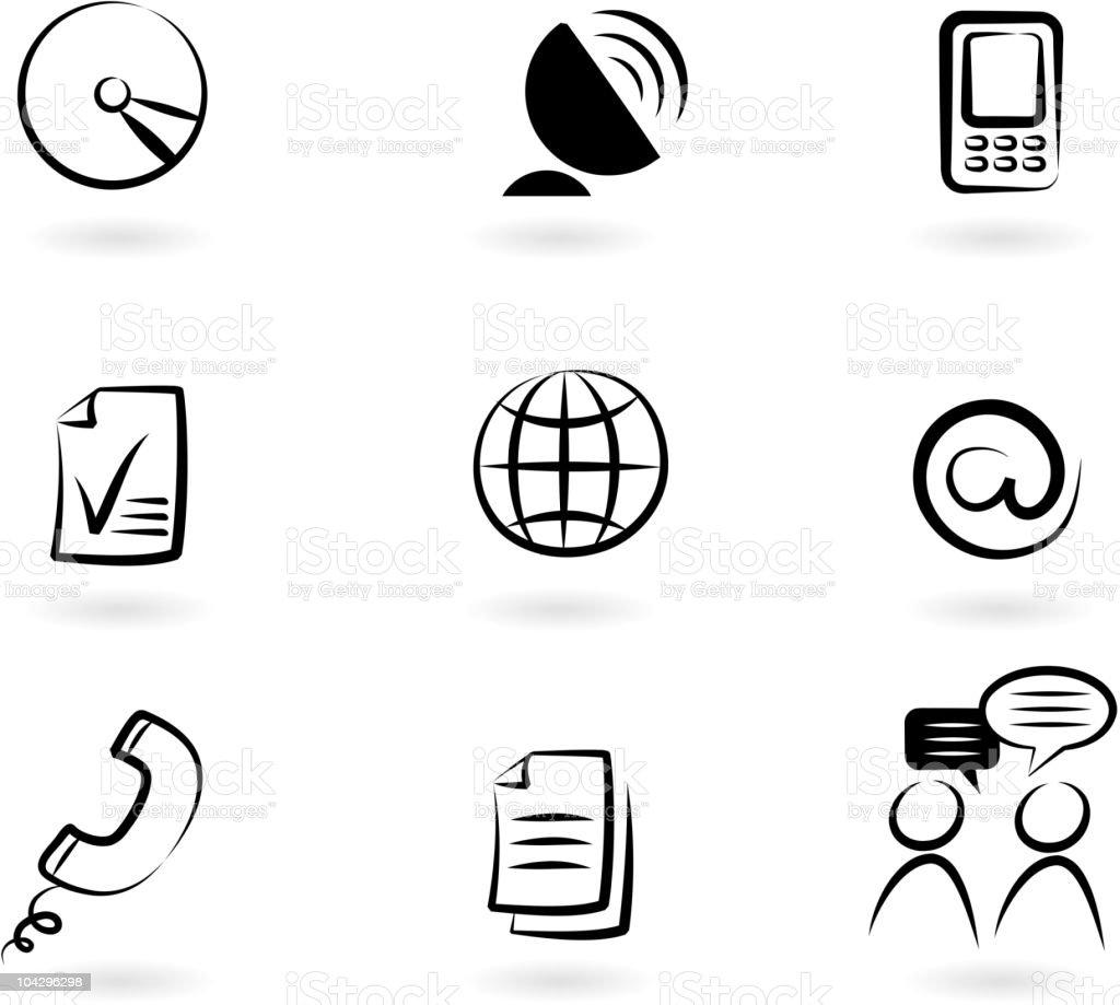 Communication icon set 2 royalty-free stock vector art