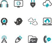 Communication Icon Set | Concise Series