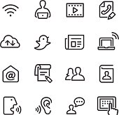 Communication Icon Set - Line Series