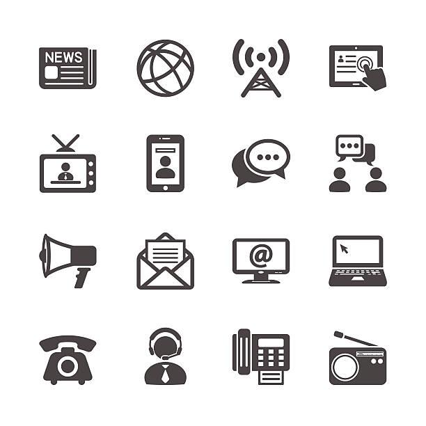 kommunikation icon-set, vektor-eps10 - turm bauwerk stock-grafiken, -clipart, -cartoons und -symbole