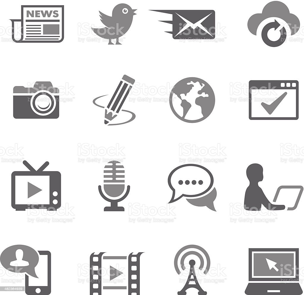 Communication Icon Set royalty-free stock vector art