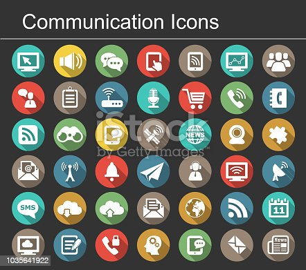 Vector communication icon