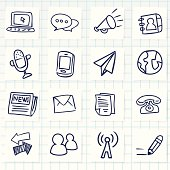 Vector File of Doodle Communication Icon Set