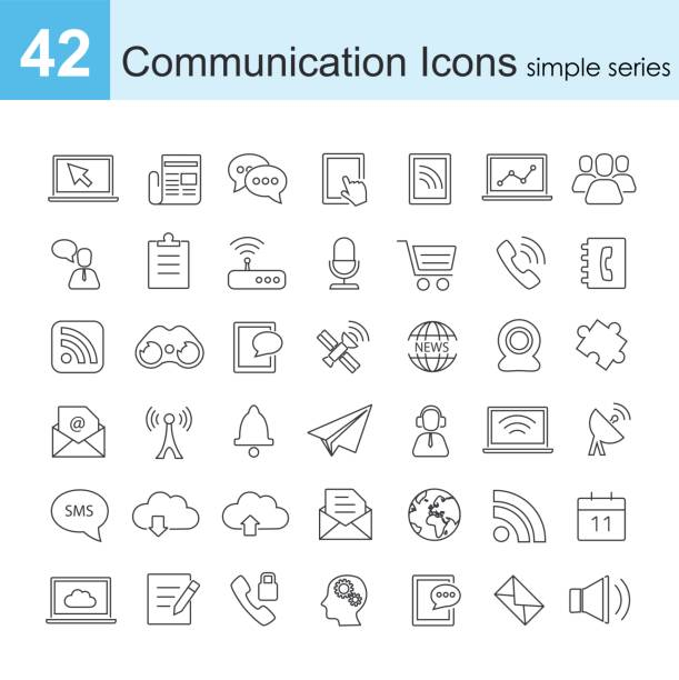 communication icon - part of a series stock illustrations, clip art, cartoons, & icons