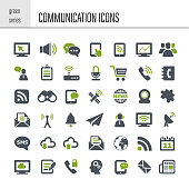 Vector communication icon. Simple series