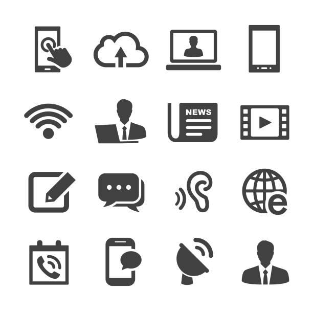 Icônes de Communication-Série Acme - Illustration vectorielle