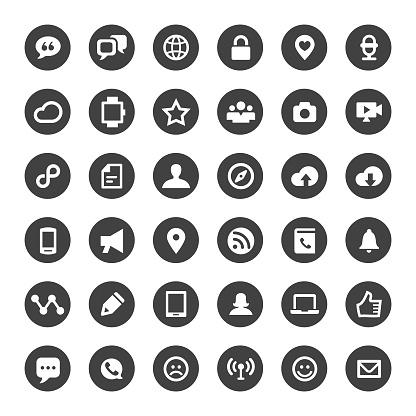 Communication Icons - Big Circle Series