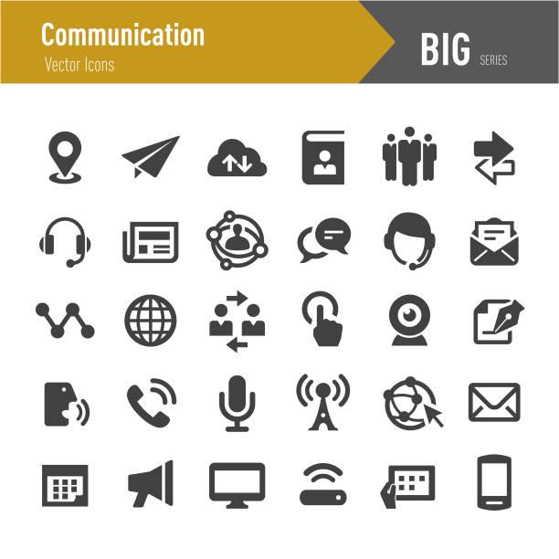 иконки связи - большая серия - сообщение stock illustrations