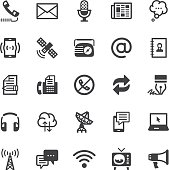 Communication icons - Black series