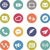 Communication Icons - Circle Series