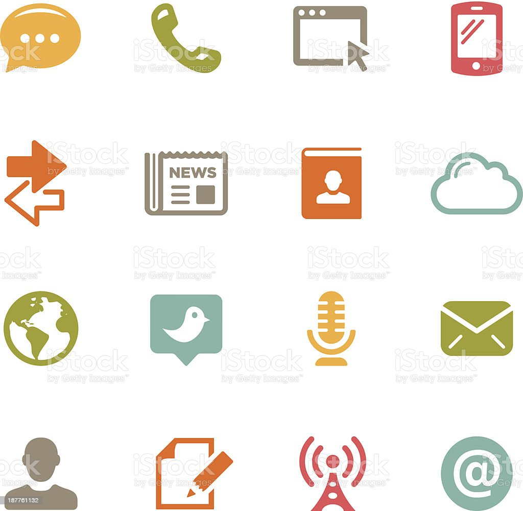Communication Icons   Flat Series royalty-free stock vector art