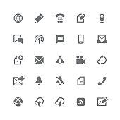 Communication icons   retina series