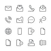 Communication Icons set 1 | Black Line series