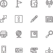 Communication Icons | set 1 - Light