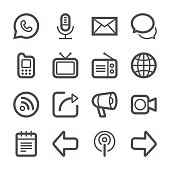 Professional set of 16 black and white pixel perfect icons ready to be used in websites, apps and all kinds of design projects. EPS 10 file.