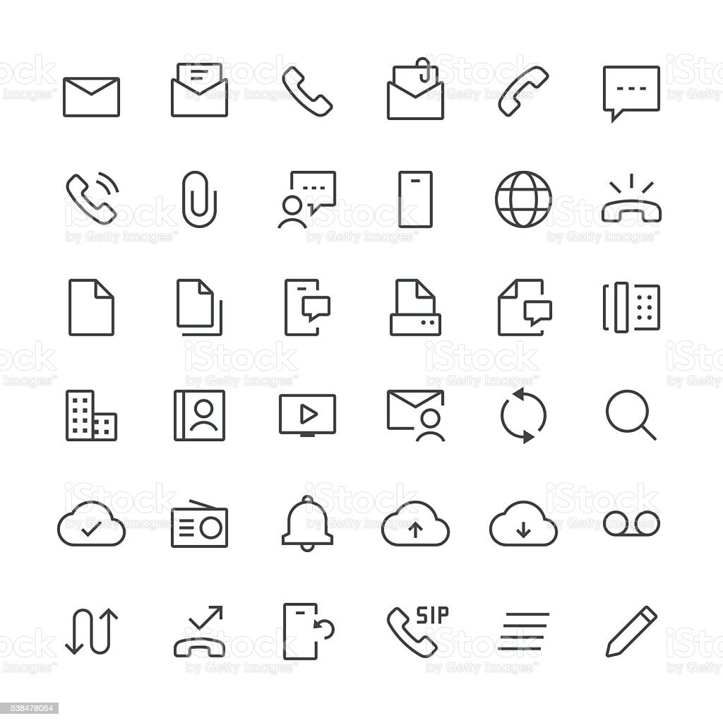 Communication icons set 1 | Thin Line series