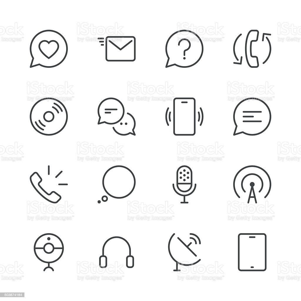Communication Icons set 2 | Black Line series vector art illustration