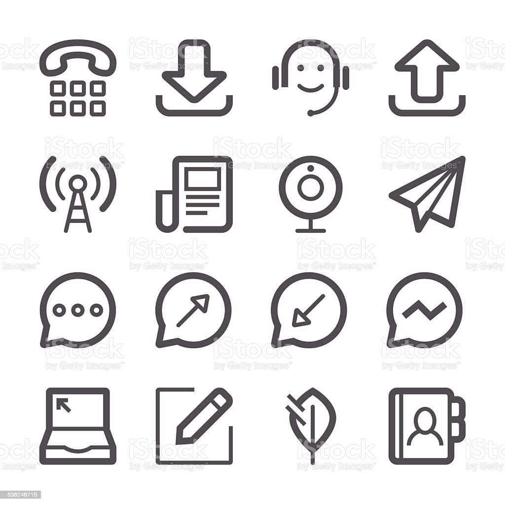Communication Icons set 2 | Stroke Series vector art illustration