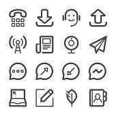 Communication Icons set 2   Stroke Series