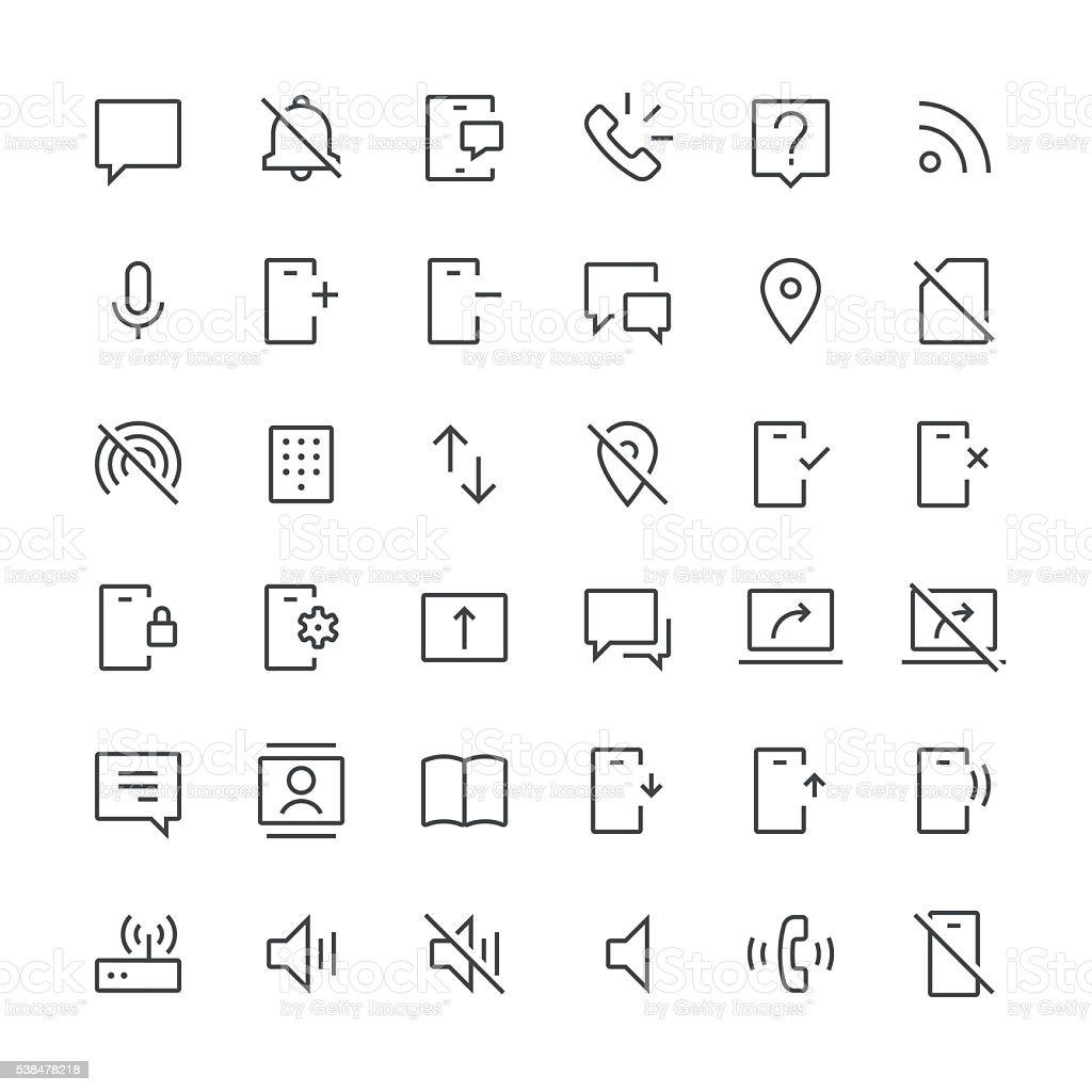 Communication icons set 2 | Thin Line series vector art illustration