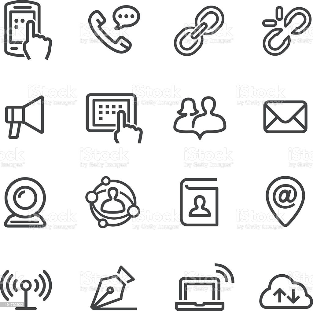 Communication Icons Set - Line Series vector art illustration