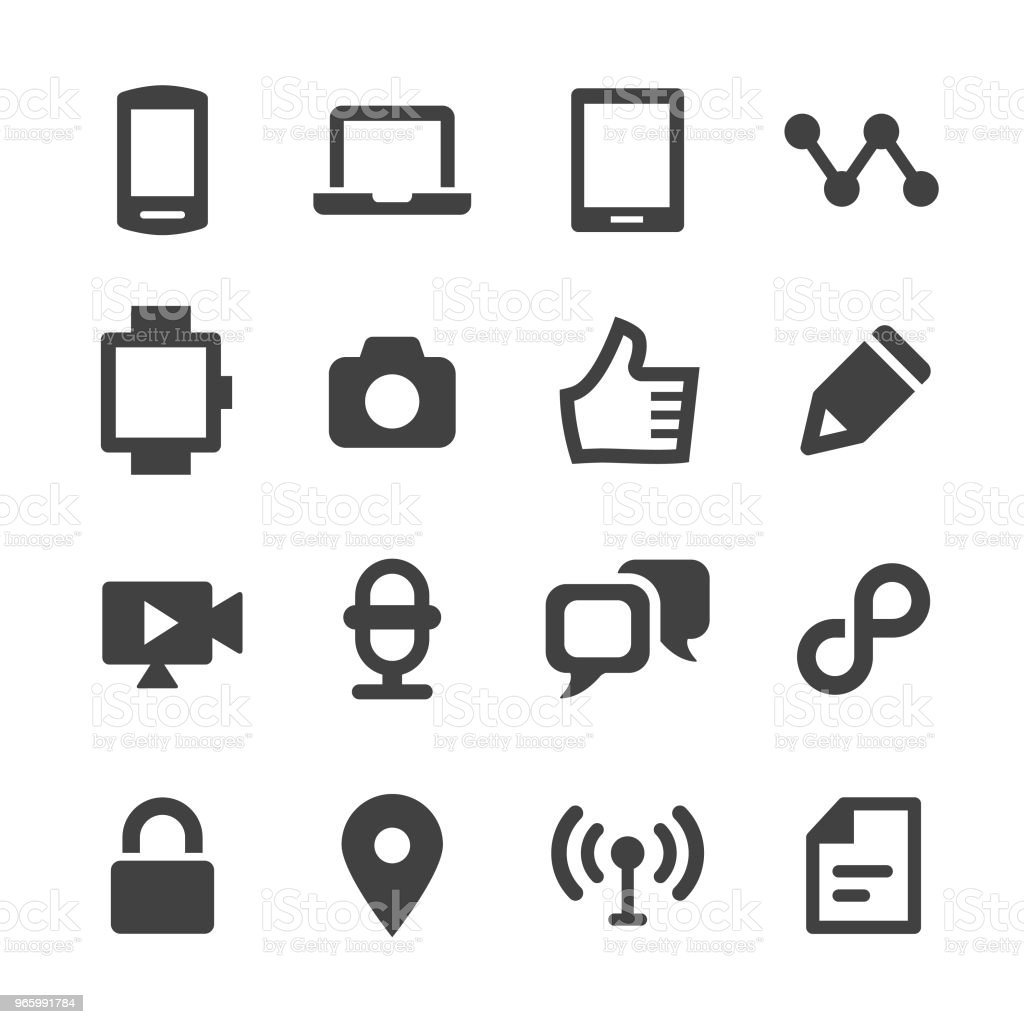 Mededeling iconen Set - minimale reeks - Royalty-free Apparatuur vectorkunst