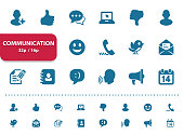 Professional, pixel perfect icons, EPS 10 format, optimized for 32p and 16p (2x magnification for preview).