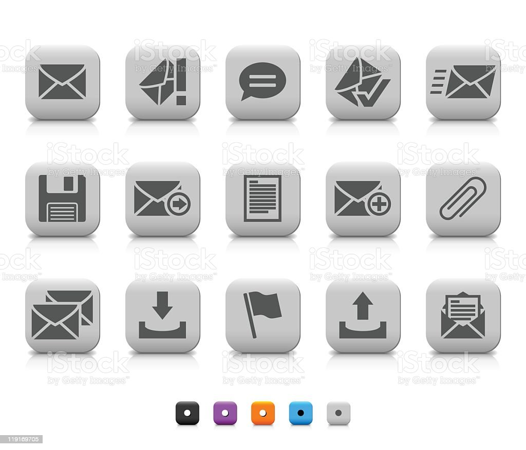 Communication icons royalty-free communication icons stock vector art & more images of attached