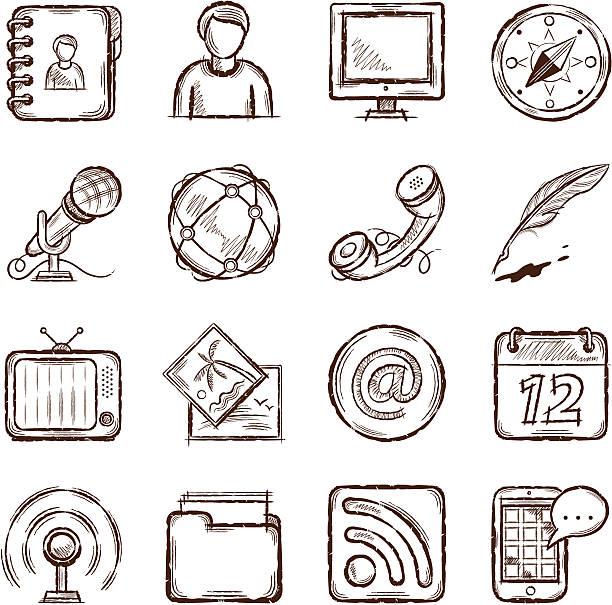 Kommunikation Icons – Vektorgrafik