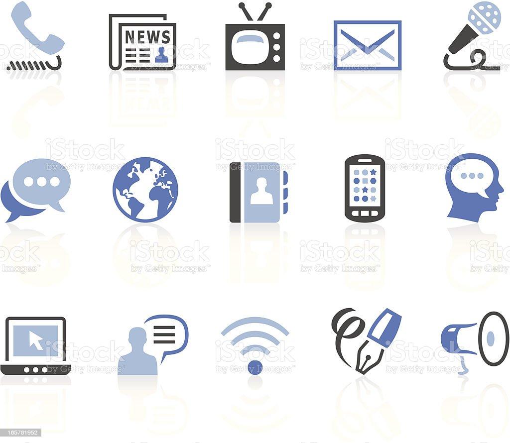 Ícones de comunicação - ilustração de arte em vetor