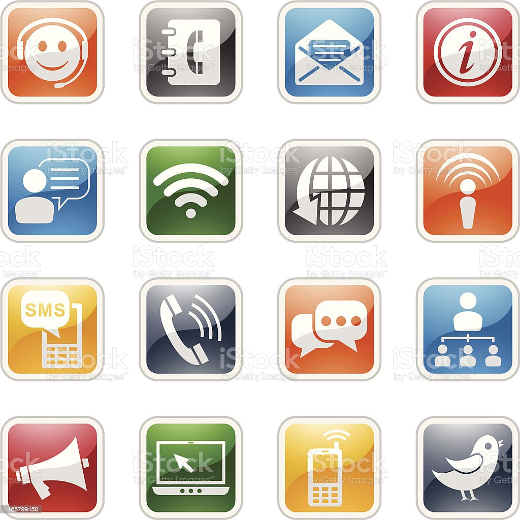Communication Icons royalty-free communication icons stock vector art & more images of anthropomorphic smiley face