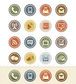 Communication Icons : Vintage Badge Series