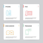 Communication Infographic Design Template