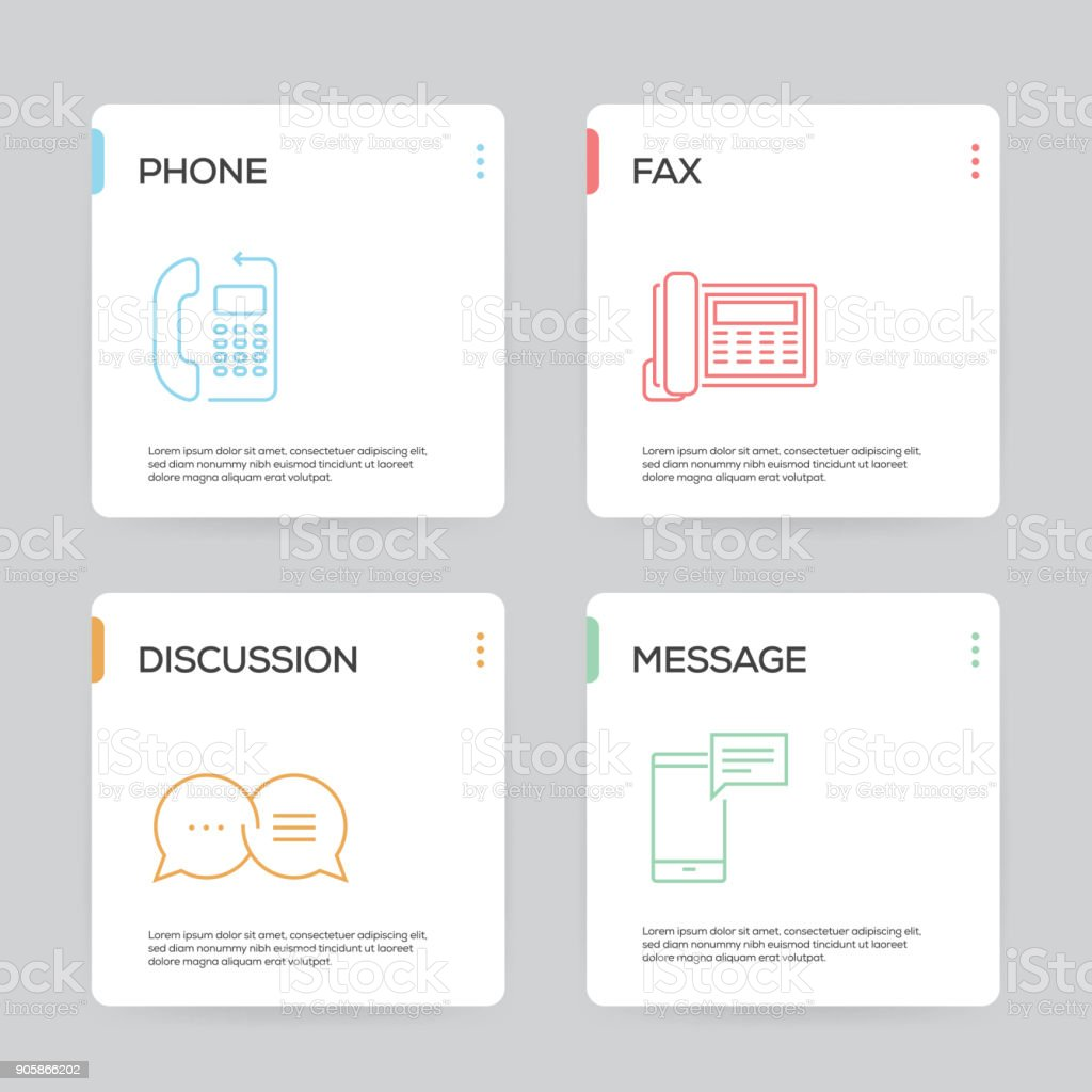 Communication Infographic Design Template vector art illustration