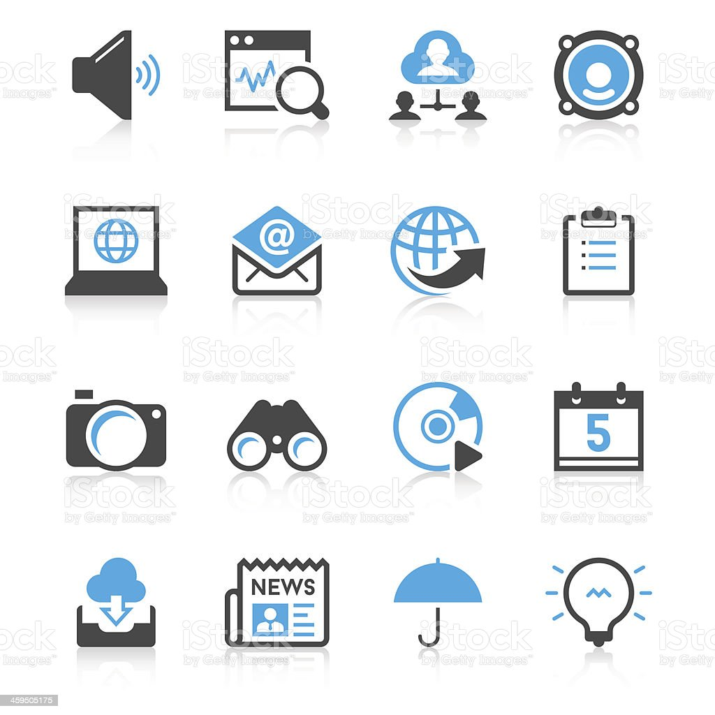 Communication & Internet Icon Set | Concise Series vector art illustration