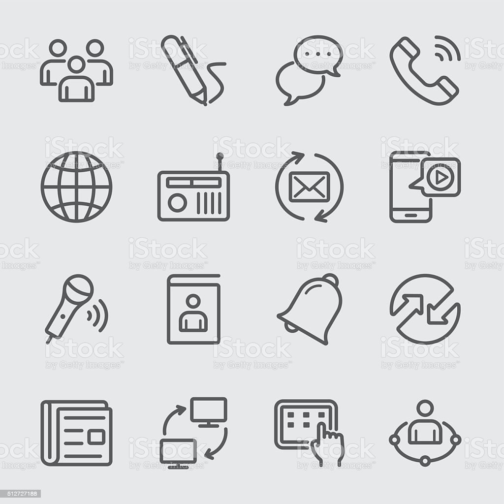 Communication line icon 2 vector art illustration