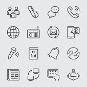 Communication line icon 2
